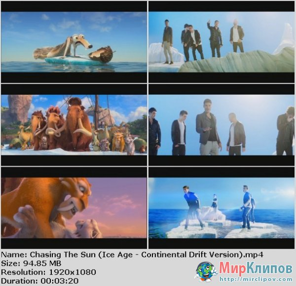 The Wanted - Chasing The Sun (OST Ice Age: Continental Drift Version)