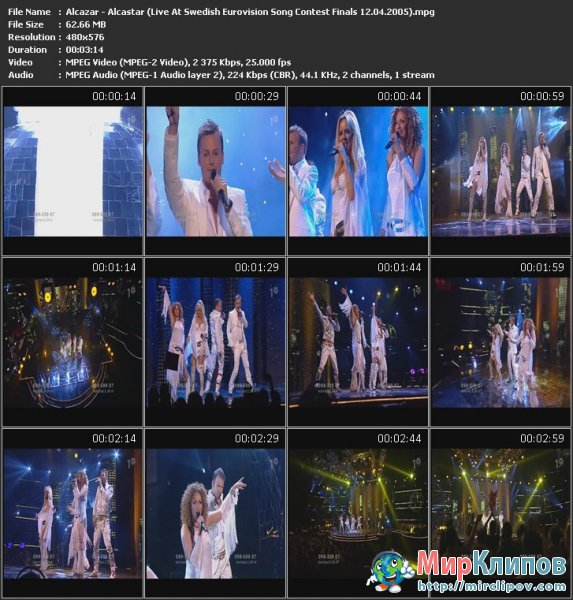 Alcazar - Alcastar (Live, Swedish Eurovision Song Contest Finals, 12.04.2005)