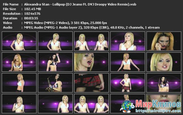 Alexandra Stan - Lollipop (DJ Jeano Feat. DVJ Droopy Video Remix)