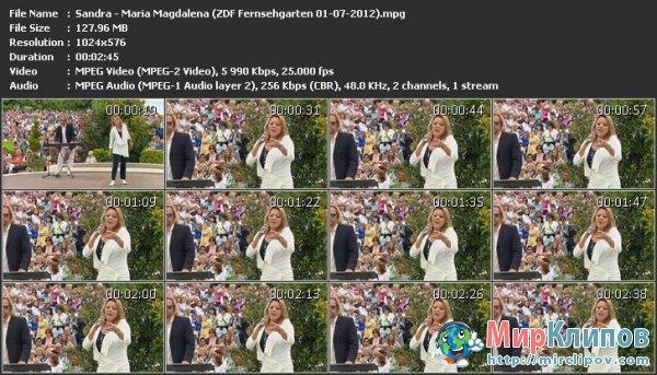 Sandra - Maria Magdalena (Live, ZDF Fernsehgarten, 01.07.2012)