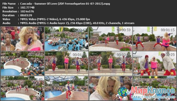 Cascada - Summer Of Love (Live, bZDF Fernsehgarten, 01.07.2012)