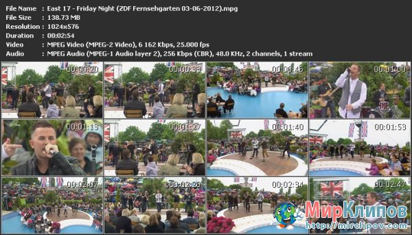 East 17 - Friday Night (Live, ZDF Fernsehgarten, 03.06.2012)