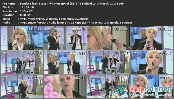 Pandora Feat. Stacy - Why-Magistral (Live, FST5 TV Finland, 24.05.2011)