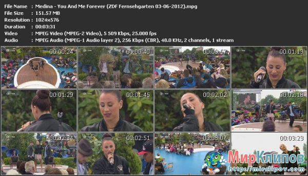 Medina - You And Me Forever (Live, ZDF Fernsehgarten, 03.06.2012)