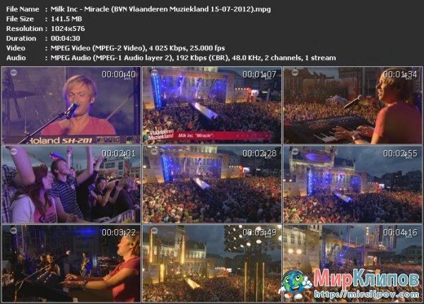 Milk Inc - Miracle (Live, BVN Vlaanderen Muziekland, 15.07.2012)