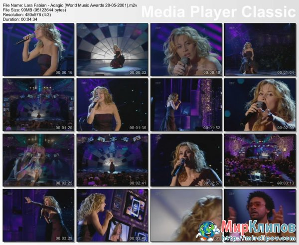 Lara Fabian - Adagio (Live, World Music Awards, 28.05.2001)