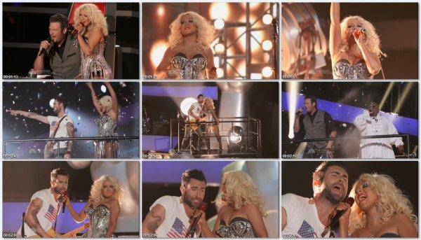 Christina Aguilera, Cee Lo Green, Adam Levine & Blake Shelton - Start Me Up (The Rolling Stones Cover)
