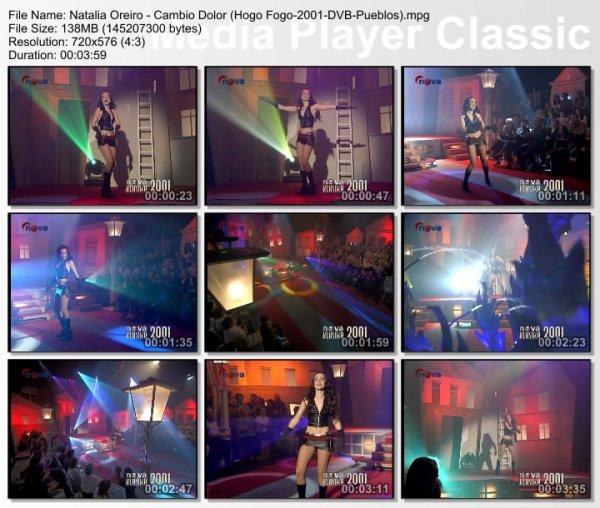 Natalia Oreiro - Cambio Dolor (Live, Hogo Fogo, 2001)