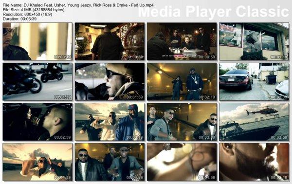 DJ Khaled Feat. Usher, Young Jeezy, Rick Ross & Drake - Fed Up