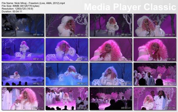 Nicki Minaj - Freedom (Live, AMA, 2012)