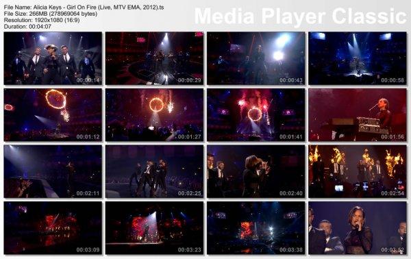 Alicia Keys - Girl On Fire (Live, MTV EMA, 2012)