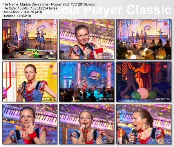 Марина Девятова - Попурри (Live, Клуб Юмора, 2010)