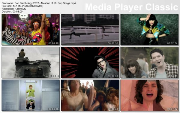 Pop Danthology 2012 - Mashup Of 50 Pop Music Videos