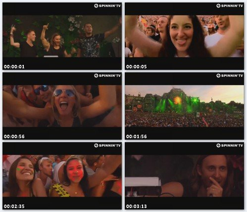 Afrojack, Nicky Romero, David Guetta - Showtek 'Booyah' (Live at Tomorrowland 2013)