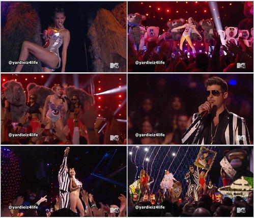 Miley Cyrus & Robin Thicke ft. 2 Chainz & Kendrick Lamar - Live @ MTV VMA 2013