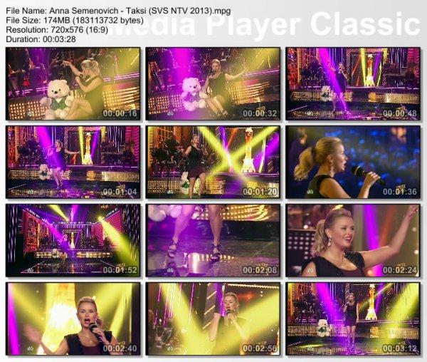 Анна Семенович - Такси (Live, Суббота. Вечер. Шоу, 2013)