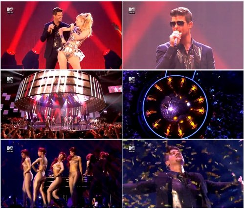 Robin Thicke and Iggy Azalea - Blurred Lines / Feel Good (Live @ MTV Europe Music Awards 2013)