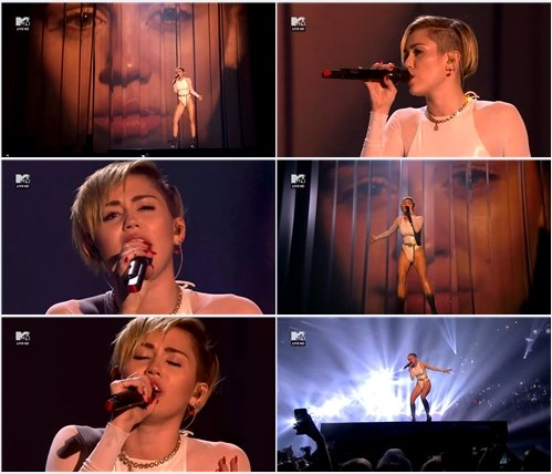 Miley Cyrus - Wrecking Ball (Live @ MTV Europe Music Awards 2013)