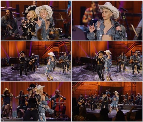 Miley Cyrus & Madonna - Don't Tell me / We Can't Stop (Live @ MTV Unplugged)