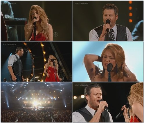 Shakira ft Blake Shelton - Medicine (Live @ ACM Awards) 2014