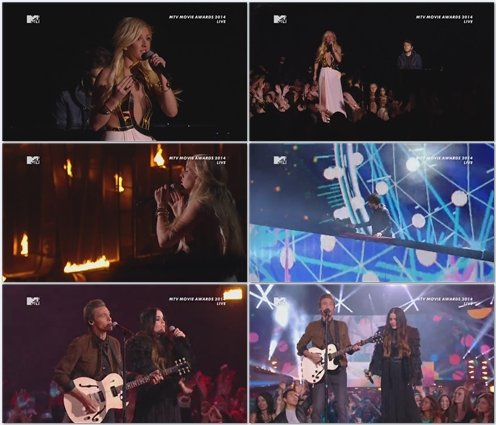Ellie Goulding and Zedd - Beating Heart / Find You (Live @ MTV Movie Awards)