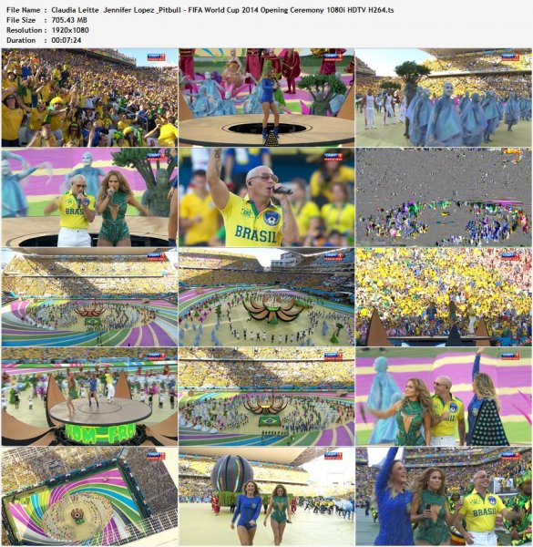 Jennifer Lopez & Pitbull & Claudia Leitte - We Are One (Live at FIFA World Cup 2014 Opening Ceremony)