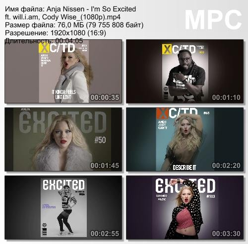 Anja Nissen ft. Will.i.Am & Cody Wise - I'm So Excited