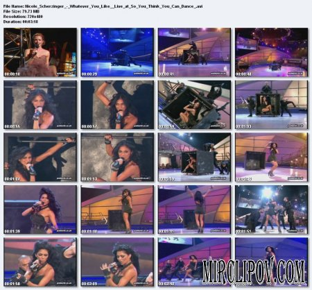 Nicole Scherzinger - Whatever You Like (Live at So You Think You Can Dance)